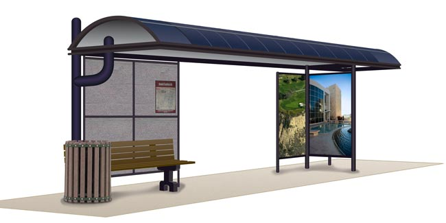 bus shelter illustration